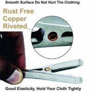 iLife Durable Clothes pins Sunshine Universal Multipurpose Rust Free Copper Riveted Stainless Steel Clothes Clips Cloth