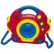 AEG Karaoke reproductor de CD con 2 micrófonos CDK4229 Kids Line