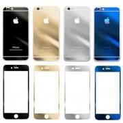 James Zhou Färgglatt härdat skyddsglass för iPhone 6/6S (Lila, silver, blå, guld, svart) - (Svart)