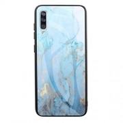 BAIJIAXIUSHANG-PHONE CASES Ultra-delgada caja del teléfono de La caja del teléfono for el caso del Samsung Galaxy A70 mármol vidrio templado anti-caída con todo incluido TPU de protección cubierta posterior ( Color : 5 )