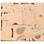 Petit Collage Wood Puzzle Plus Play Safari Jumble