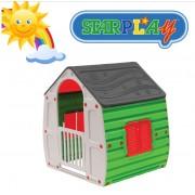 Casetta/Casa da giochi per bimbi da interno e esterno e giardino in termoplastica StarPlay - Magical House Bis