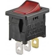 Intrerupator basculant SCI tip Rocker 10 A R13-66B-02 LED 12V/DC ON/OFF 250 V/AC 6 A