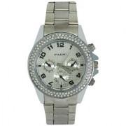 NEW BRAND PAIDU Stone Studded Silver Theme Wrist Watch For Men.