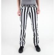 nadrág női 3RDAND56th - 1 Stripe Skinny Jeans - JM1111 - BLK-WHT