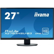 "Monitor AMVA+ LED iiyama Prolite 27"" X2783HSU, Full HD (1920 x 1080), VGA, HDMI, DisplayPort, USB 2.0, Boxe, 4 ms (Negru)"