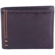 New Tareen Men Casual Brown Genuine Leather Wallet(5 Card Slots)