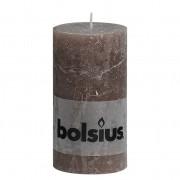 Bolsius Stompkaars rustiek 13x7 cm taupe