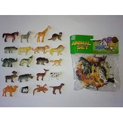 Forever Kidzz Zoo Wild Animals Figures Set for Kids - Pack of 20 Animals, Small