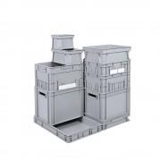 Euro-Stapelbehälter Inhalt 82 l, LxBxH 800 x 600 x 200 mm, PE grau