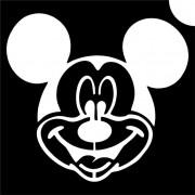 Disney Mickey csillámtetoválás sablon