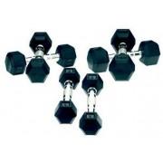 Gantere Tunturi 11TUSCL022, cauciuc, 2 x 8 Kg
