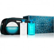 Bvlgari AQVA Pour Homme coffret XVI. Eau de Toilette 100 ml + bálsamo after shave 75 ml + gel de duche 75 ml + bolsinha 1 ks