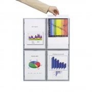 Info-Display Rahmen aus Polystyrol, aluminiumfarben HxBxT 322 x 237 x 23 mm, DIN A4, VE 4 Stück