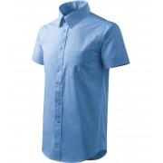 ADLER Shirt short sleeve Pánská košile 20715 nebesky modrá XXL
