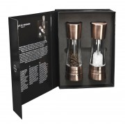 Комплект мелнички за сол и пипер COLE & MASON DERWENT цвят мед с механизъм за прецизност - 19 см