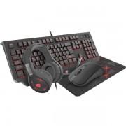Kit Gaming 4-in-1 Genesis Cobalt 300 (Tastatura + Mouse + MousePad + Casti)