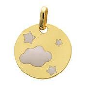 Orféva Médaille jeton nuage et étoiles laqués