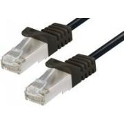 Patch kabel S/FTP 15m, Cat 6A, Bakar, Transmedia TI27-15L, crna
