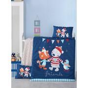 Set lenjerie de pat Victoria, pentru copii, 121VCT2032, Albastru