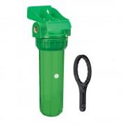 "FILTRO GREEN 10"", carcasa bacteriostatica, rezistenta UV, cu valva, supapa si cheie"