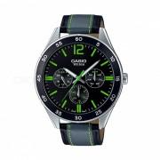 Casio MTP-E310L-1A3VDF reloj analogico - plata / negro / verde (sin caja)