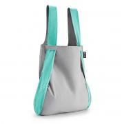 Notabag - Tasche und Rucksack, mint / grau