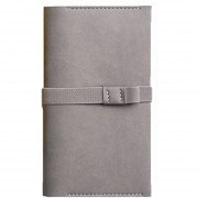 Original Llevar Sobre Notebook Doble Portable Traveler Notebook School Suministros De Oficina Portable Estilo, Tamaño: 17,8 * 10cm (gris)