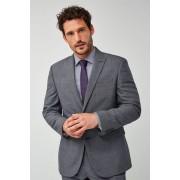 Mens Next Regular Fit Stripe Wool Blend Suit: Jacket - Grey