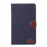 Shop4 - Huawei MediaPad M3 Lite 8 Hoes - Book Cover Jeans Donker Blauw