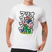 Nintendo Piranha Plant Kanji Heren T-shirt - Wit - XL - Wit