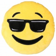 Geen Coole emoticon kussentje 30 cm Multi
