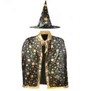 Costum de Vrajitor cu Pelerina si Palarie pentru Halloween