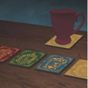 Paladone Harry Potter - Houses Crests Coaster 4-Pack