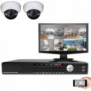 Kit vidéosurveillance SDI IR 2 dômes
