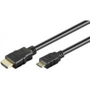Cablu HDMI tata - mini HDMI tata HighSpeed Ethernet contacte aurite 3m