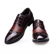 Zapatos De Ecocuero Para Hombre Dedo Del Pie Puntiagudo De Lazada Negocios - Marrón