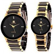 Nubela Iik Golden Quartz Couple Watch a7