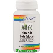 AHCC Plus NAC+ Beta Glucan 30 Cps Antitumoral Solaray Secom