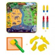 Set Jucarie educativa si interactiva Joc Creativ Covorasul Magic Coloreaza Deseneaza Picteaza cu Apa Cadou pentru fete si baieti + 2 ani