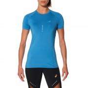 asics Top Hardloopshirt korte mouwen Dames blauw XS 2015 Compressie shirts