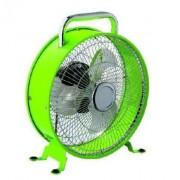 Tafelventilator Retro design gelakt metaal kleur groen