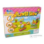 Set modelare plastilină, flori, 19 buc.