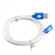 Modrý svietiaci LED USB kábel
