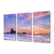 Tablou Canvas Premium Peisaj Multicolor Plaja pastel in California Decoratiuni Moderne pentru Casa 3 x 70 x 100 cm