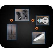 Zestaw oświetleniowy + parasol czarno-biały 800W 230cm Z104