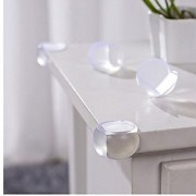 iDream Baby Safety Transparent Corner Protector Furniture Desk Glass Table Edge Corner Guards for Kids Children (Pack of 4)