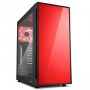 Геймърска кутия Sharkoon AM5 Window Red, 13715