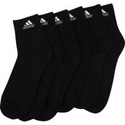 Adidas Black Colour Cotton Ankle Length Socks - 3 Pairs