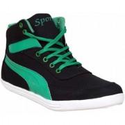 Sukun Black Green Casual Shoe